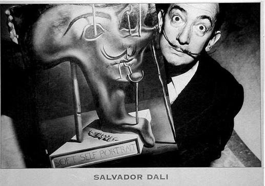 Salvador Dali faces acetylcholine molecule communications
