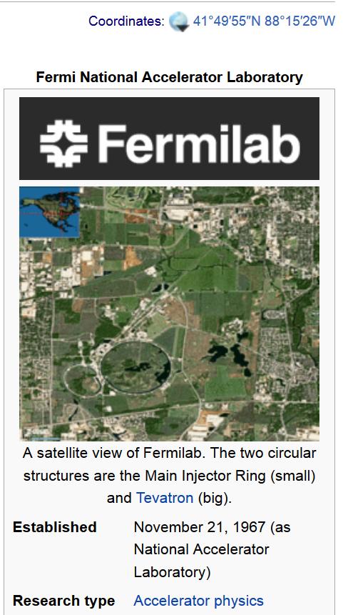fermiLAB coordinates