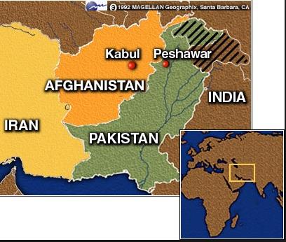 map pakistan afghan